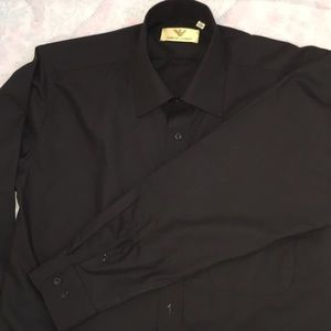 New Giorgio Armani black Long sleeve dress shirt